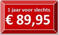 1 jaar voor slechts €89,95